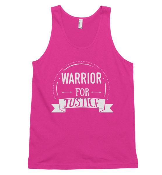"Femen Unisex Tank Top ""Warrior For Justice Dark"""
