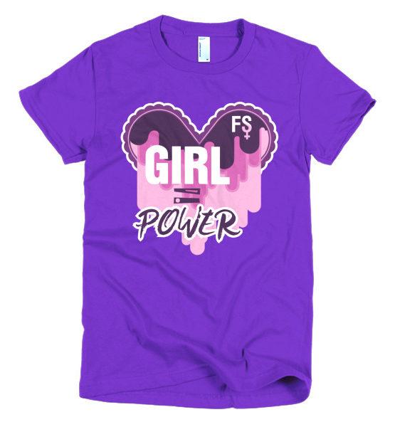 "Femen Woman's T-Shirt ""Girl Power Dark"""