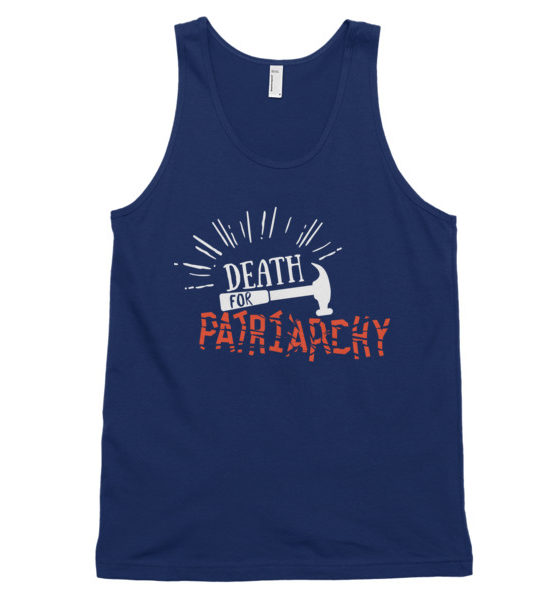 "Femen Unisex Tank Top ""Death For Patriarchy Dark"""