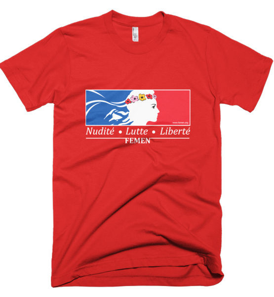 "Femen Man's T-Shirt ""Nudite Lutte Liberte Dark"""