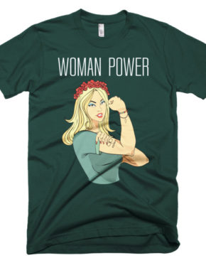 """Femen Man's T-Shirt """"Woman Power Dark"""""""
