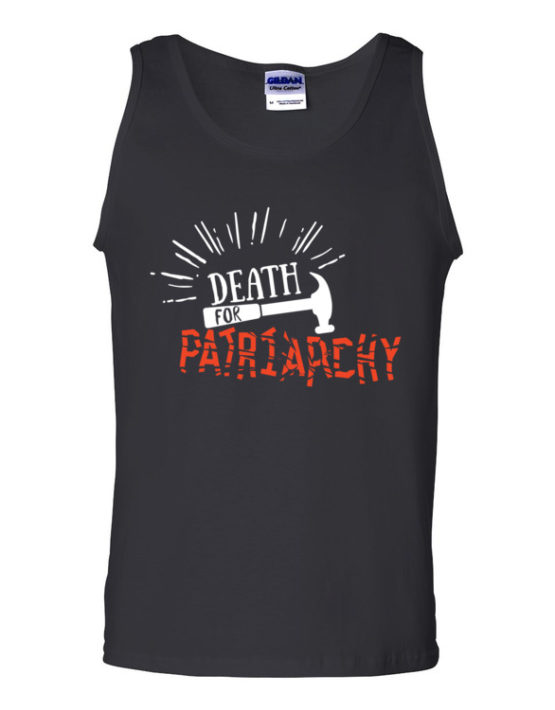 "Femen Man's Tank Top ""Death For Patriarchy Dark"""