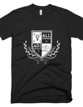 "Femen Man's T-Shirt ""All Women Are Heroes Dark"""