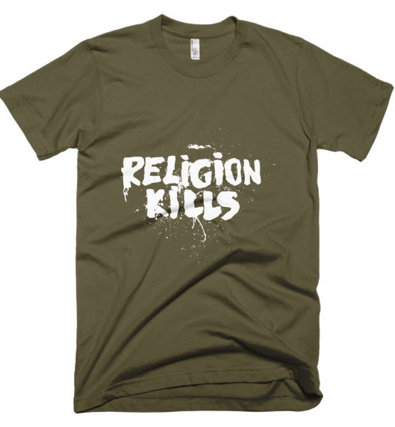 "Femen Man's T-Shirt ""Religion Kills Dark"""
