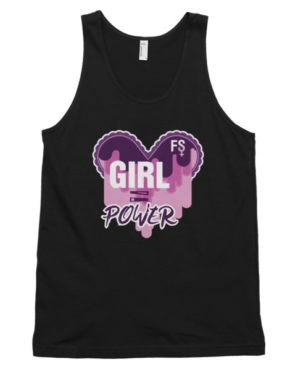 "Femen Unisex Tank Top ""Girl Power Dark"""