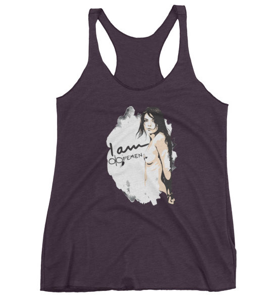 "Femen Woman's Tank Top ""I Am Femen Dark"""