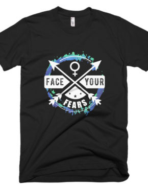"Femen Man's T-Shirt ""Face Your Fears Dark"""