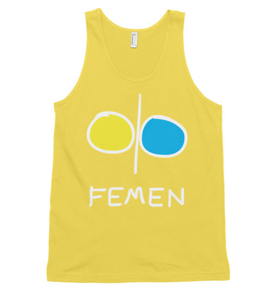 "Femen Unisex Tank Top ""Femen Dark"""