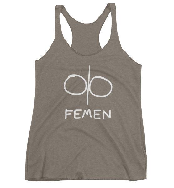 "Femen Woman's Tank Top ""Logo Dark"""