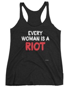 """Femen Woman's Tank Top """"Every Woman Is A Riot III Dark"""""""