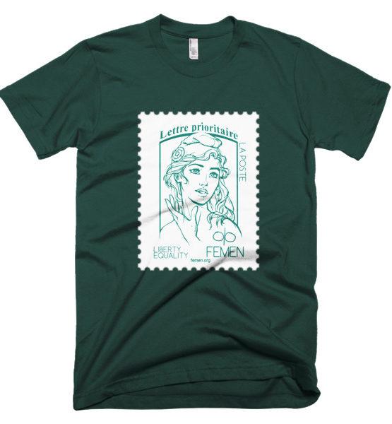 "Femen Man's T-Shirt ""Lettre Prioritaire Dark"""