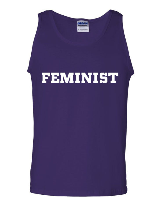 "Femen Man's Tank Top ""Feminist Dark"""