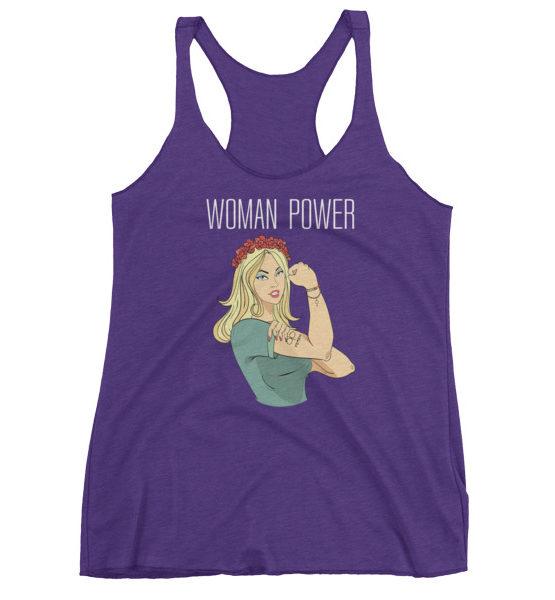 "Femen Woman's Tank Top ""Woman Power Dark"""