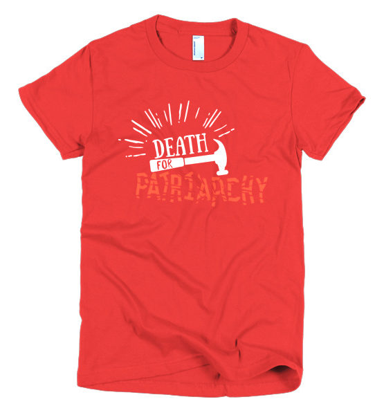"Femen Woman's T-Shirt ""Death For Patriarchy Dark"""