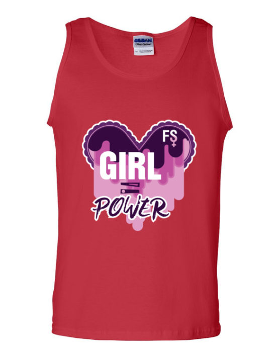"Femen Man's Tank Top ""Girl Power Dark"""