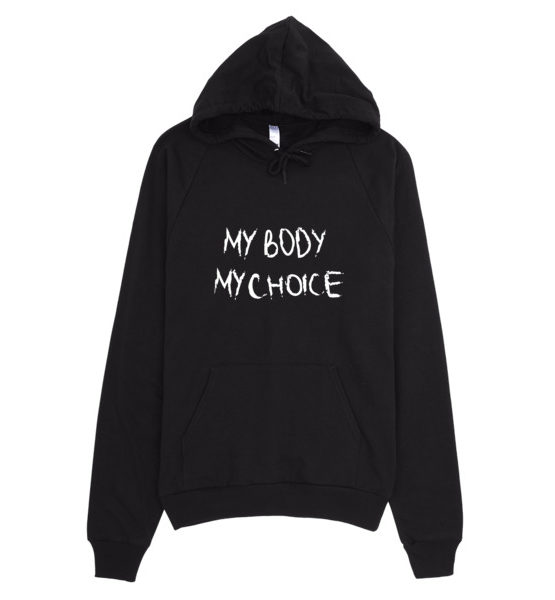 "Femen Unisex Hoodie ""My Body My Choice Dark"""