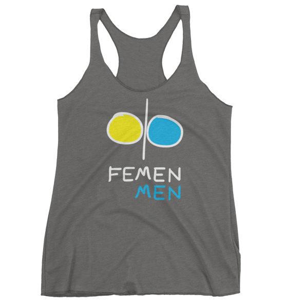 "Femen Woman's Tank Top ""Femen Men Dark"""
