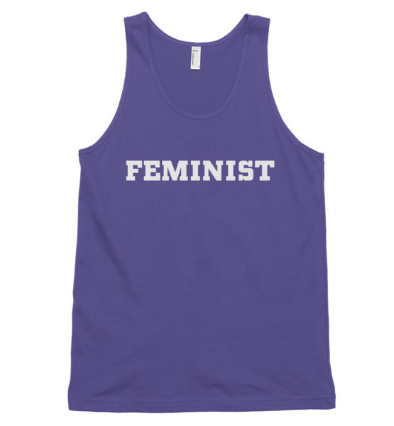 "Femen Unisex Tank Top ""Feminist Dark"""