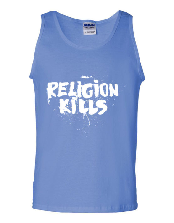 "Femen Man's Tank Top ""Religion Kills Dark"""