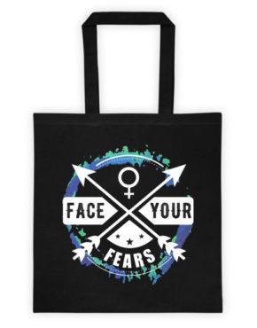 """Femen Bag """"Face Your Fears Dark"""""""
