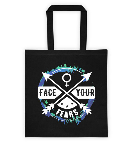 "Femen Bag ""Face Your Fears Dark"""
