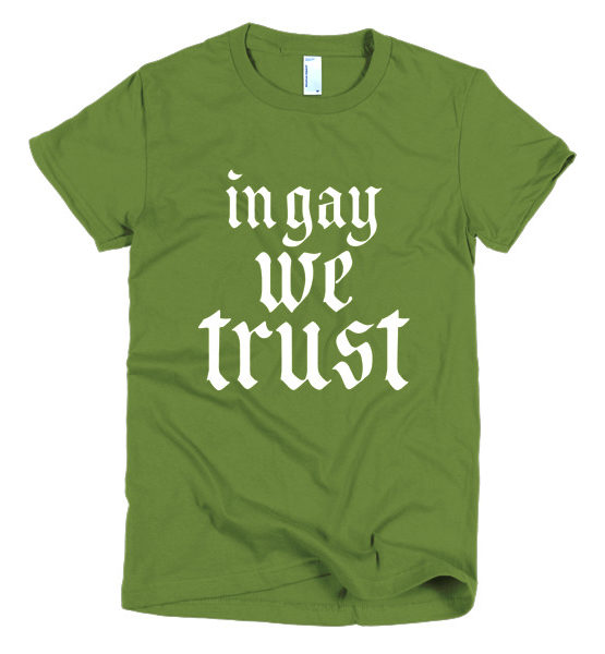 "Femen Woman's T-Shirt ""In Gay We Trust II Dark"""