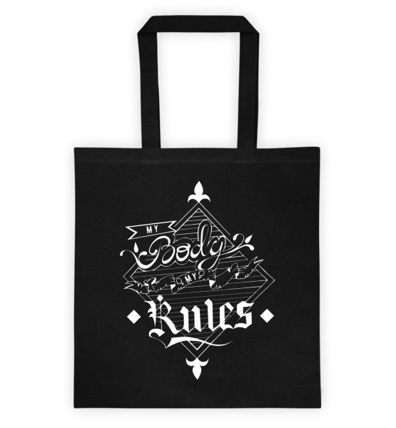 "Femen Bag ""My Body My Rules Dark"""