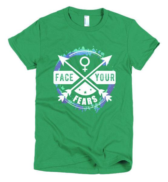 """Femen Woman's T-Shirt """"Face Your Fears Dark"""""""