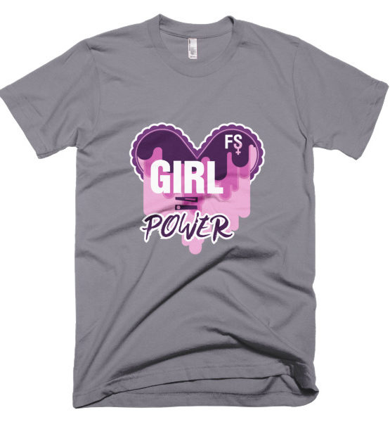 "Femen Man's T-Shirt ""Girl Power Dark"""