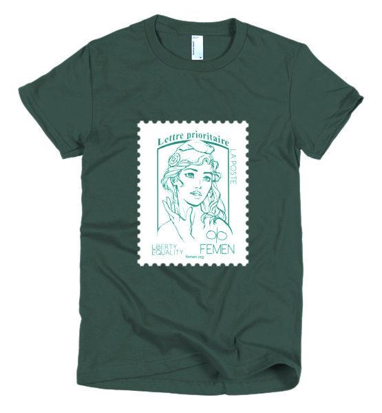 "Femen Woman's T-Shirt ""Lettre Prioritaire Dark"""