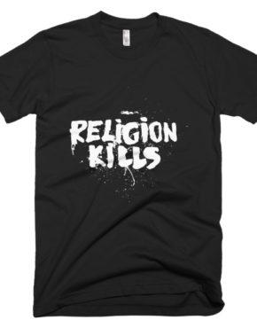 """Femen Man's T-Shirt """"Religion Kills Dark"""""""