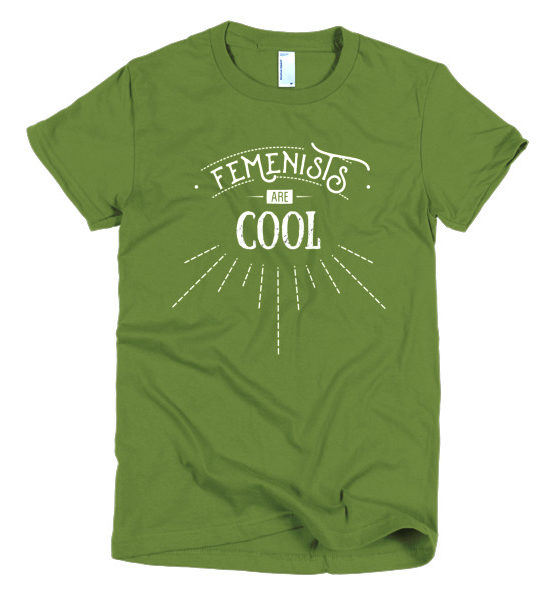 "Femen Woman's T-Shirt ""Femenists Are Cool Dark"""