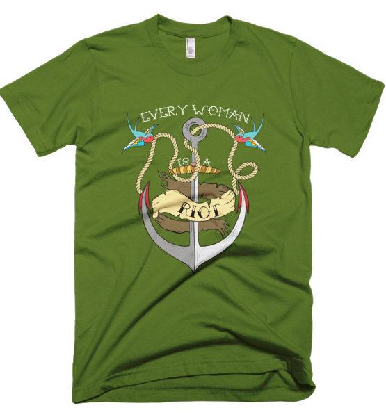 """Femen Man's T-Shirt """"Every Woman Is A Riot Dark"""""""