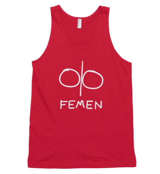 "Femen Unisex Tank Top ""Logo Dark"""