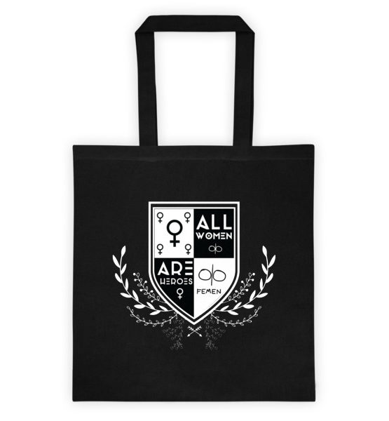 "Femen Bag ""All Women Are Heroes Dark"""