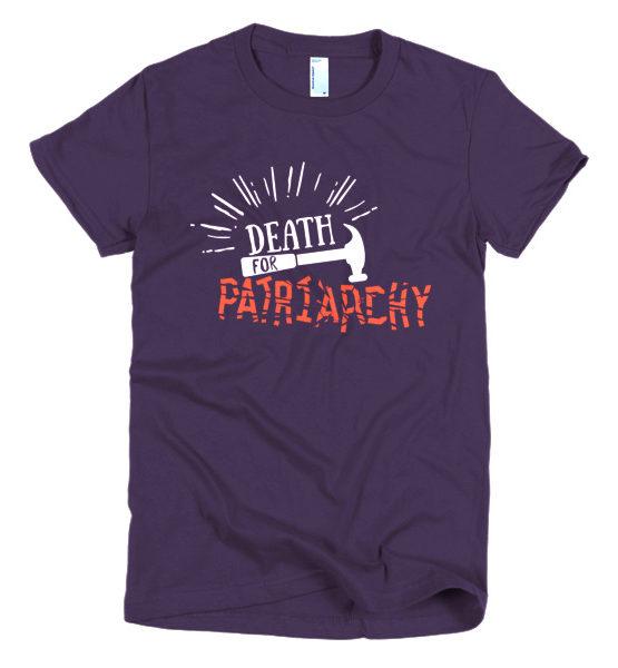 "Femen Woman's T-Shirt ""Death For Patriarchy Dark"""