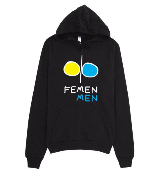 """Femen Unisex Hoodie """"Femen Men Dark"""""""