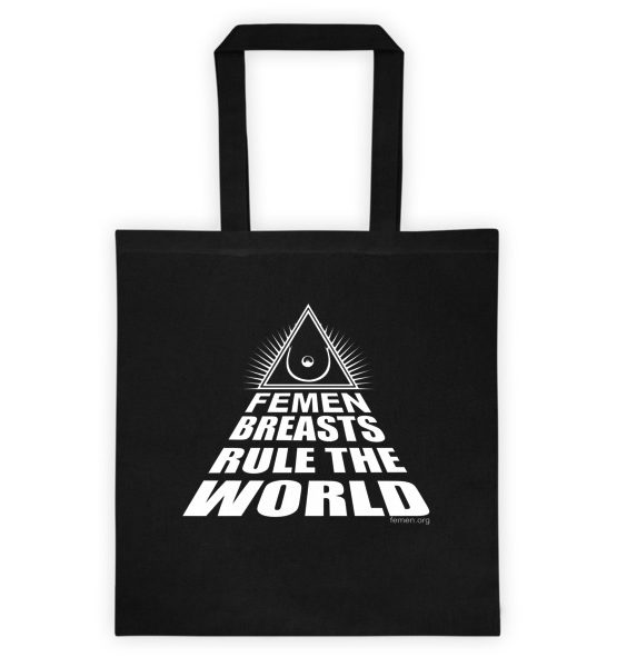 "Femen Bag ""Femen Breasts Rule The World Dark"""