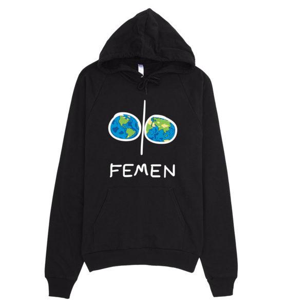 """Femen Unisex Hoodie """"Earth Dark"""""""