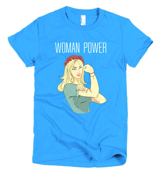 "Femen Woman's T-Shirt ""Woman Power Dark"""