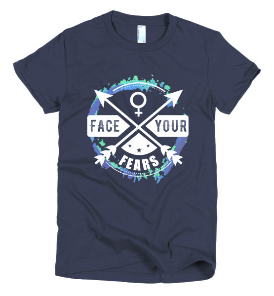 "Femen Woman's T-Shirt ""Face Your Fears Dark"""