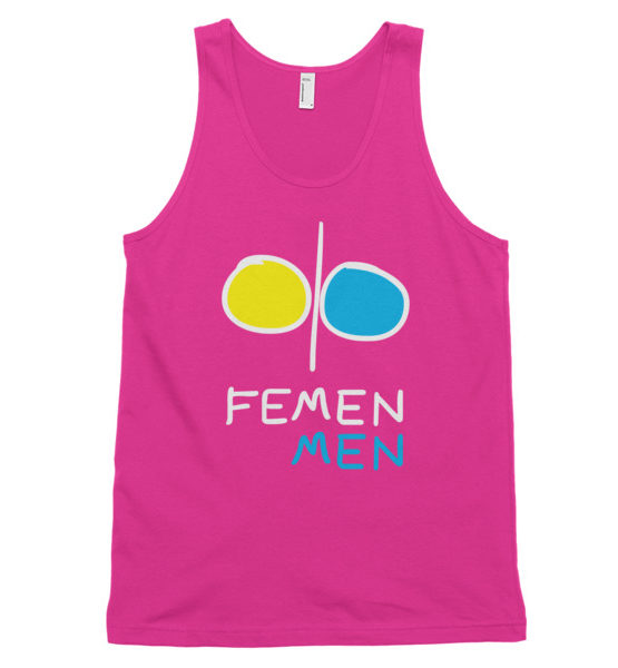 "Femen Unisex Tank Top ""Femen Men Dark"""