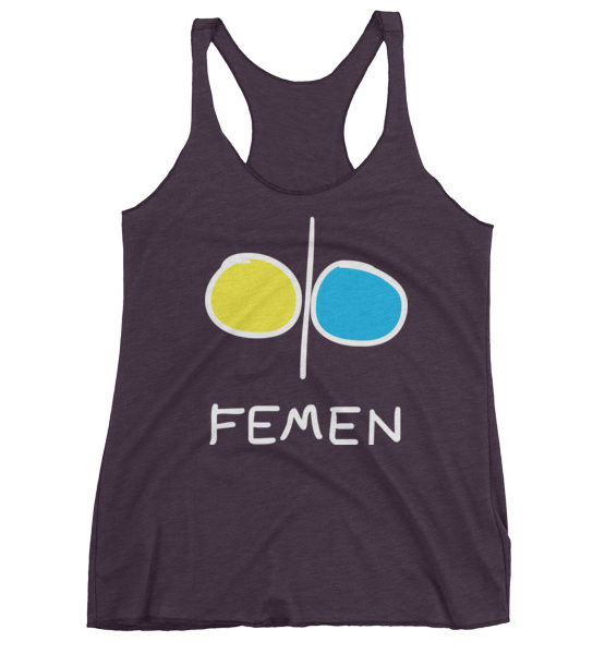 "Femen Woman's Tank Top ""Femen Dark"""