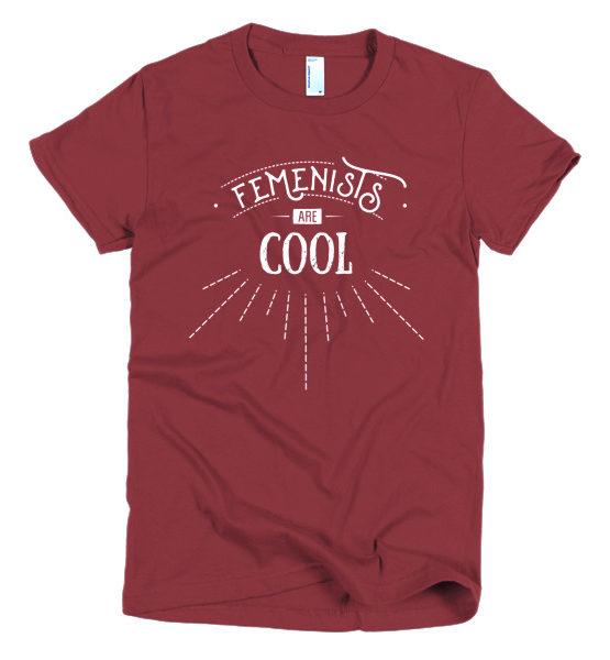 "Femen Woman's T-Shirt ""Femenists Are Cool Dark"""