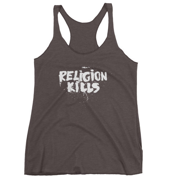 "Femen Woman's Tank Top ""Religion Kills Dark"""