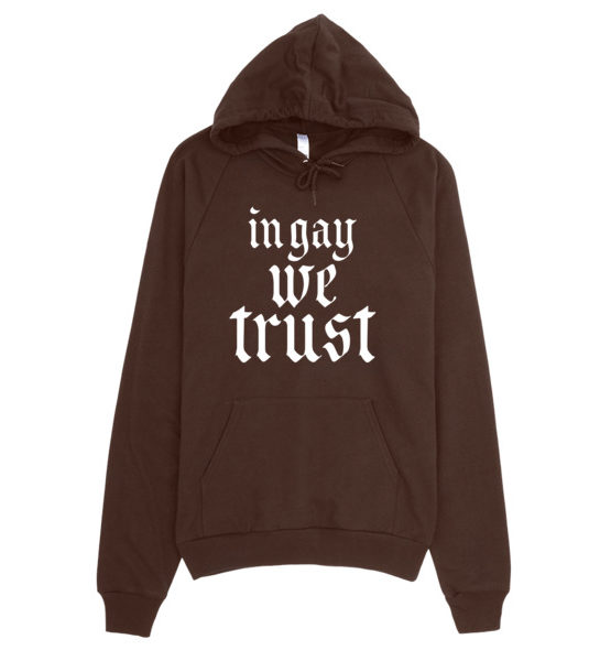 "Femen Unisex Hoodie ""In Gay We Trust II Dark"""
