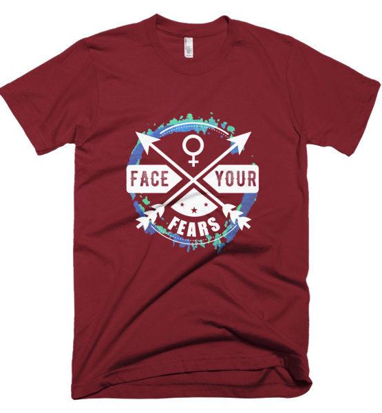 """Femen Man's T-Shirt """"Face Your Fears Dark"""""""
