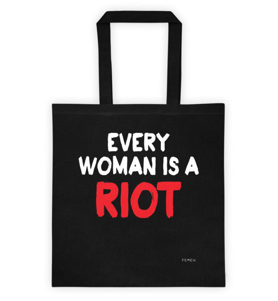 "Femen Bag ""Every Woman Is A Riot III Dark"""