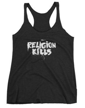 "Femen Woman's Tank Top ""Religion Kills Dark"""
