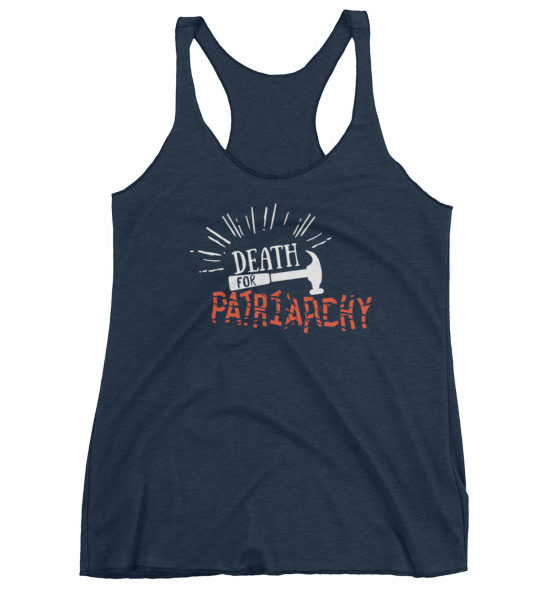 "Femen Woman's Tank Top ""Death For Patriarchy Dark"""